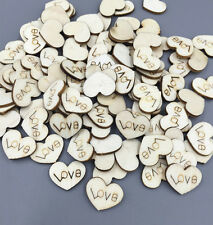 200pcs Wooden Heart-shaped Lettering Scrapbooking decoration Crafts 15mm
