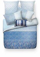 ESPRIT Indigo Blue 256TC 100% Cotton QUEEN Size Quilt Doona Cover Set