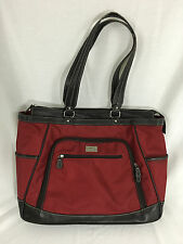 Clark & Mayfield Red 18 Inch Laptop Handbag Briefcase Tote