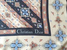 DESIGNER CHRISTIAN DIOR HAND ROLLED SILK SCARF.  VGC.  29 x 29 INCHES.  SUPERB!