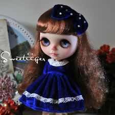 "【Tii】Velvet dress outfit 12"" 1/6 doll Blythe/Pullip/azone Clothes Handmade girl"