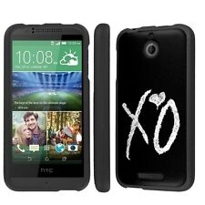 HTC Desire 510 Hard Armor Black LifeStyle Cover Case - XO