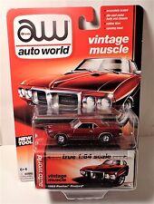 AW Auto World Vintage Muscle 1969 Pontiac Firebird Rubber Tires