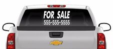 Custom FOR SALE sticker 12 x 22 your phone number vinyl window decal car truck