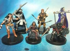 Dungeons & Dragons Miniatures Lot  Player Character Party Experienced !!  s100