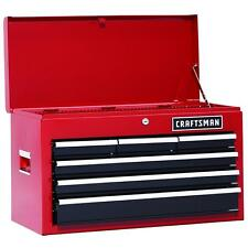 Craftsman 26 In 6 Drawer Heavy Duty Ball Bearing Top Chest Box DIY Red 37711