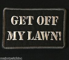 GET OFF MY LAWN USA ARMY MORALE ISAF SWAT VELCRO® BRAND FASTENER BADGE PATCH