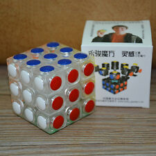 Yongjun Lingan 3x3x3 Transparent Speed Magic Cube Smooth Puzzle Twist Toy Gift