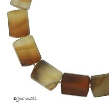 """16 Natural Carnelian Unpolished Tube Faceted Beads 11x14mm 9"""" #54130"""