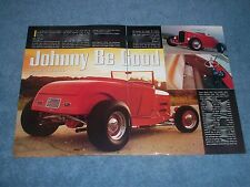 """1929 Ford Roadster Highboy Article """"Johnny Be Good"""""""