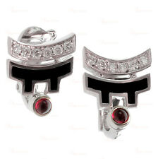 CARTIER Le Baiser Du Dragon White Gold Lacquer Ruby Diamond Earrings