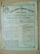 1923 Athletics Magazine-SOUTH LONDON HARRIERS GAZETTE & CHRONICLE-No4,Vol.XXXIX