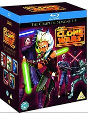 Star Wars Clone Wars Complete Season 1 2 3 4 & 5 1-5 New Region Free Blu Ray Set