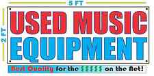 USED MUSIC EQUIPMENT Banner Sign NEW Larger Size Best Quality for the $$$