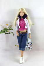 5in1 Set Fashion Casual Dress Suits Clothes For Barbie Doll Xmas Gifts P1