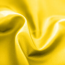 Yellow Faux Leather Leatherette Upholstery Material FR Fabric Fire Resistant
