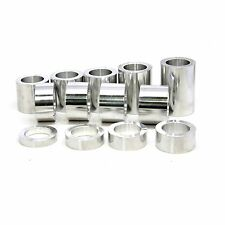Wheel Axle Spacer Kit 1″ Harley Custom – 13 Spacers Polished