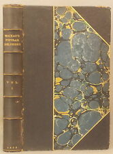 1850 MEMOIRS OF EXTRAORDINARY POPULAR DELUSIONS ~ CHARLES MACKAY ~ LEATHER BOUND