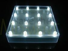 LED Square Light Base With 16 Bright White LED's Vase Up Light Wedding Event