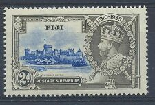 Fiji 1935 Silver Jubilee SG 243g Dot to the left of chapel turret MM