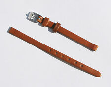 6mm Quality Genuine Leather Padded Tan Light Brown Watch Band - Size Regular