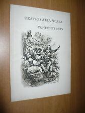 TEATRO ALLA SCALA STAGIONE CONCERTI 1955 TERZO CONCERTO EUGENE ORMANDY PROGRAMMA