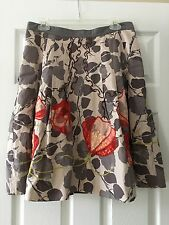 Anthropologie Floreat Glowing Leaf Skirt 12