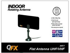 NEW QFX ANT-7 HD/DTV/UHF/VHF/FM Flat Indoor Antenna Ultra Thin & Lightweight