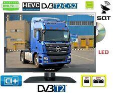 """LED TV Fernseher DVD 16"""" 40cm DVB-C/S2/T2 220V+12/24 Volt LKW Truck Boot 15,6"""""""