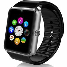 "GT08 1.54"" Black Touch Screen Bluetooth Smart Watch Phone Mate For Android IOS"