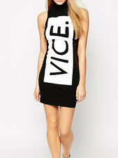 TIALS This Is A Love Song Black & White Vice Stretch Bodycon Dress XS M L NEW