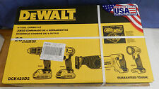 Dewalt DCK420D2 20V 4-Tool Combo Kit new Power tool Battery