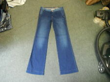 "Mango Martina Bootcut Jeans Waist 31"" Leg 33"" Faded Dark Blue Ladies Jeans"