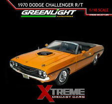 GREENLIGHT 50811 ORANGE 1:18 1970 DODGE CHALLENGER 426 HEMI CONVERTIBLE DIECAST