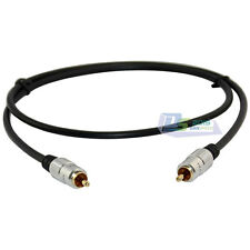 Gold Plated 3FT 1M Composite Audio Video Subwoofer Cable 1 RCA Male - 1 RCA Male