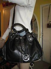 MICHAEL KORS  ASTOR  Black Studded Leather Hobo/Shoulderbag  VERY NICE  $368.00