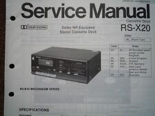 TECHNICS RS-X20 Cassette tape Deck Service manual wiring parts diagram RS-B10