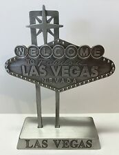 Replica Welcome To Las Vegas Sign Desk Paper Weight Pewter 5 inch Miniature Mini