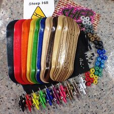 1 Complete Fingerboard 30mm-Pick Your Own Colors- Deck,Trucks,CNC Wheels,2 Grip