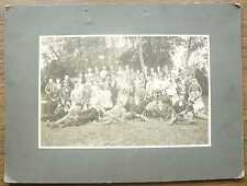 Russian Imperial Wedding Group Photo Policeman w Medals- Russo-Japanese War Hero