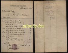 1886 WHITEHAVEN, NIXON'S Ghyll Bank College for Boys fine receipted  Bill head