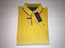 NWT, TOMMY HILFIGER MENS CUSTOM FIT POLO SHIRT- XLARGE- YELLOW