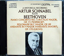 Artur SCHNABEL: BEETHOVEN Piano Concerto No.5 Sir Malcolm SARGENT CD Polonaise