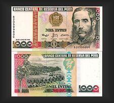 Banknote Banco Central de Reserva del Peru 1000 Intis 1988 - Top Erhaltung