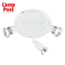 Saxby 43283 Amalfi 3 Light Triple Spotlight Ceiling Mounted - Gloss White