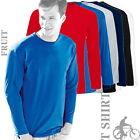 (Pack of 3) Fruit Of The Loom 61038 Mens Valueweight Long Sleeve T-Shirt (6 Col)