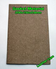 Gasket Leather type Material Sheet 20x15cm 0.8mm Oil Fuel Resistant