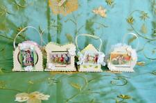 Bethany Lowe Set of 4 Tiny Easter Bucket Ornaments Pressed Paper Casey Mack