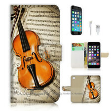 iPhone 6 (4.7') Flip Wallet Case Cover! P0644 Violin