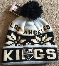 LOS ANGELES KINGS KNIT HAT CAP POM NEW EMBROIDERED LOGO SUPER WARM BEANIE